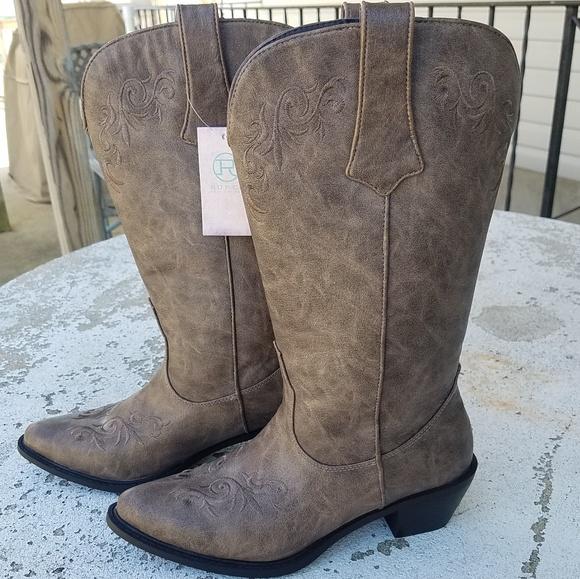 126aeb97fbd Roper Cowboy Western Style Boots NWT Size 8.5 NWT